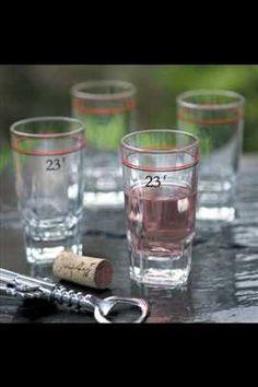 Small wine or juice glasses. (Mothology.com)