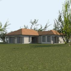 Tuscan design – Mediterranean Home Decor Flat Roof House Designs, Bungalow House Design, Cool House Designs, Single Storey House Plans, Tuscan House Plans, House Plans South Africa, Three Bedroom House Plan, Affordable House Plans, Building Costs
