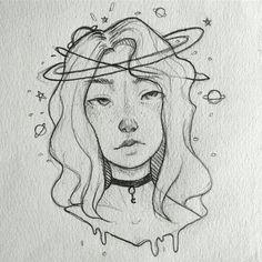 No sé de quién es pero está genial Ich weiß nicht, wer es ist, aber es ist großartig The post Ich weiß nicht, wer es ist, aber es ist großartig appeared first on Frisuren Tips - People Drawing Easy Drawings Sketches, Space Drawings, Girl Drawing Sketches, Sketchbook Drawings, Cool Art Drawings, Pencil Art Drawings, Hard Drawings, Drawing Ideas, Sketchbook Ideas