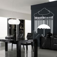 BARCODE RAIN Wall Stickers, Wall Murals, Rain, Chandelier, Ceiling Lights, City Life, House, Stuff To Buy, Home Decor