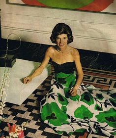 A rare photo of my favorite Kennedy sister, the usually practical and 'tomboyish' Eunice, posing in a gown     Eunice was one of the founders of the Special Olympics, which provided physical training and competition to mentally challenged athletes. She worked tirelessly to improve the quality of life for mentally challenged people and to provide them with opportunities to achieve, to become productive citizens, and to be respected members of their communities. Schooling, medical treat