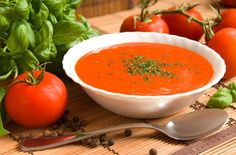 Feine Tomatensuppe