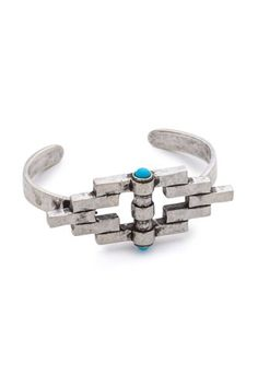Pamela Love Empire Reflection Cuff Bracelet, $299, available at Shopbop.  #refinery29 http://www.refinery29.com/turquoise-jewelry#slide-14