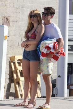 Bella Thorne shows PDA with boyfriend on Malibu beach