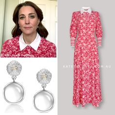 Duchess Kate's outfit for launch of Mental Health Awareness week 18 May 2020 Duchess Kate, Duke And Duchess, Duchess Of Cambridge, Kate Middleton Outfits, Kate Middleton Style, Princess Kate, Princess Charlotte, Royal Dresses, Day Dresses