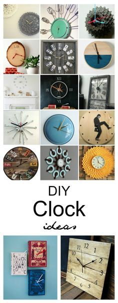 Craft Ideas| I love that a clock is not only functional, but it can be a decoration in your home too. Rather than shopping for a store-bought clock, why not go ahead and make your own unique one? Sharing some fabulous DIY Clock Ideas that I found around the web.