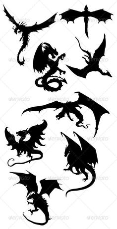 Dragon Silhouettes: