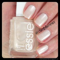 Essie ''Imported Bubbly'' nail polish ~ Chantal's Corner Don't you find this colour perfect for a wedding? #nailpolish