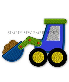 Front Loader Construction Vehicle  Boy by SimplySewEmbroidery, $2.99