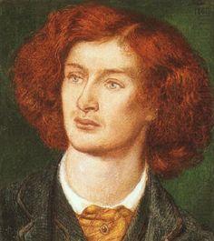 Dante Gabriel Rosetti - Portrait of Algernon Swinburne