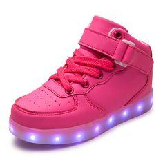 light up led luminous kids shoes color glowing