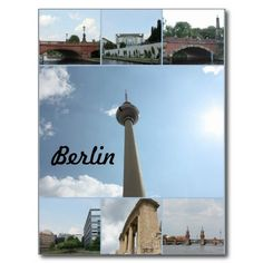 Berlin-Architektur-Foto-Collage Postkarten