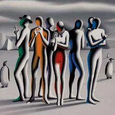 Mark Kostabi Movement In Music, Mark Kostabi, Tamara Lempicka, Mass Culture, European Paintings, Magritte, Cubism, Surreal Art, Illustration Art