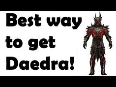 Skyrim: how to get Daedra armor and weapons without smithing - YouTube