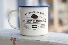 Peaky Blinders Enamel Mug. Personalised Gift Coffee Mug Tea
