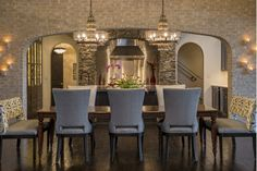 Dining Room Design with Gray Dining Chairs