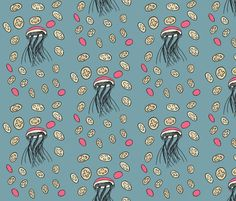 jellyfish fabric by mimmily on Spoonflower - custom fabric
