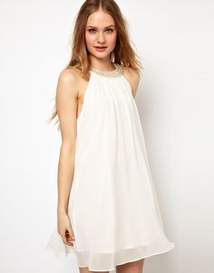Jarlo Embellished Collar Swing Dress - wearing this to the ball!