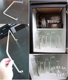 kitchen organization ideas - Self Dividers for Glassware
