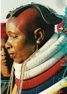 """Portrait of a Bakopa woman. South Africa 