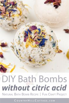 DIY bath bombs without citric acid are a great homemade bath bomb recipe for kids. Easy vegan natural bath fizzies can be custimised with essential oils. Homade Bath Bombs, Best Bath Bombs, Organic Bath Bombs, Natural Bath Bombs, Bombe Recipe, Bath Bomb Recipes, Bath Fizzies, Essential Oil Perfume, Organic Essential Oils