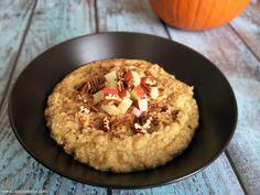 Paleo Pumpkin Pie Porridge. Definitely a win! Used banana instead of apple, and cut it in half for single serving