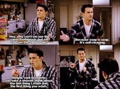 Joey Tribbiani and Chandler Bing Chandler Bing, Friends Moments, Friends Tv Show, Friends Forever, Friends Video, 3 Friends, Best Tv Shows, Best Shows Ever, Favorite Tv Shows