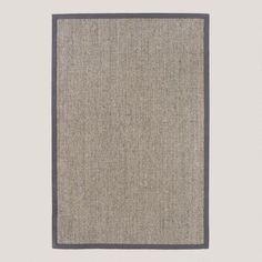 Shopping for neutral rugs. I saw this  on WorldMarket.com: Grey Sisal Boucle Rug with Grey Border