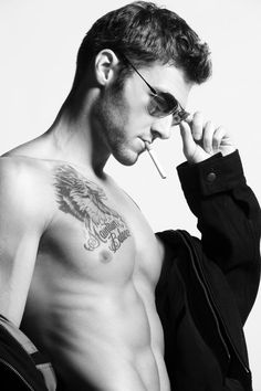 Matt Morgan / Male Models, Tattooed Guy, Smoking