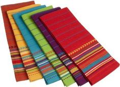 kitchens decorated with fiestaware | ... com: DII Fiesta Sunset Stripe Kitchen Towel, Set of 6: Home & Kitchen
