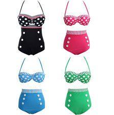 New Vintage RETRO Pinup Rockabilly High Waist Bikini SET Swimsuit Swimwear HZ#
