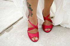 Maryland Wedding Red Bridal Shoes