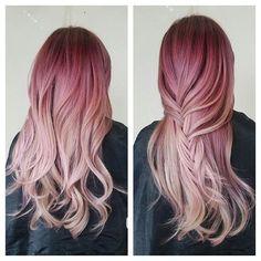 Magenta/Blonde Ombre