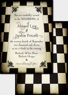 Steampunk Wedding Invitations. So Amazing!  Could also be Alice In Wonderland inspired!