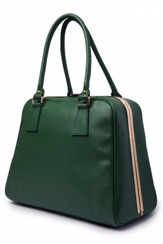 VaVa Vintage - 60s Chic Suitcase Handbag in Green genuine leather