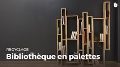 Dans cette vidéo nous allons apprendre à réaliser une bibliothèque en bois palettes. Matériel: -Palettes X9 -Papier de verre de grain moyen -Clous -Vis à boi...