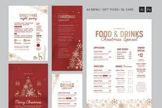 Christmas Menu Designs – Free and Premium Templates | EntheosWeb Blog Christmas Night, Christmas Drinks, Asian Slaw, Menu Design, Print Templates, Lorem Ipsum, Free Design, Side Dishes, Party