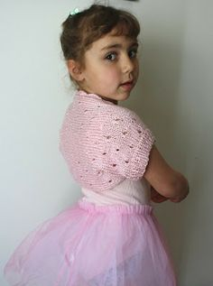 Free Knitting Patterns: Free knitting Pattern Little Ballerina Shrug