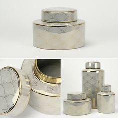 Pote Geométrico Cerâmica Ouro Diâmetro: 22 x 15 cm | A Loja do Gato Preto | #alojadogatopreto | #shoponline | referência  33566772
