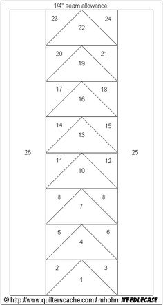 """Paper Piecing Patterns Free Printables   This makes a 4"""" x 4"""" Needle Case to keep all those needles handy!"""