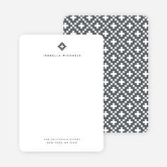 Geometric Stars Notecards from Paper Culture