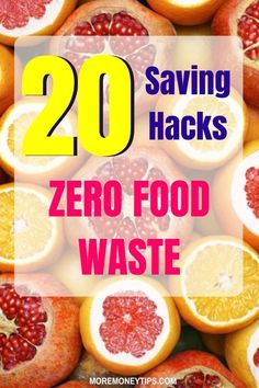Wasting food is wasting money. Learn to use these 20 saving hacks to save more money on food. Moremoneytips.com #saveonfood #groceries #