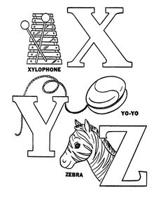 Pre K Coloring Pages Alphabet. Alphabet Activity Sheets  Pre K ABC coloring page sheets easy Coloring Letters X Y Z Sheet Letter Yy is for Yarn YoYo Yellow