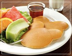 HoJo Kids will love these Mickey pancakes! Book your room today at HoJo's and enjoy more delicious Mimi's Cafe creations. www.hojoanaheim.com/mimis