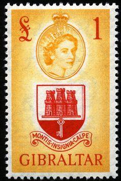 Arms of Gibraltar Akrotiri And Dhekelia, Rock Of Gibraltar, British Overseas Territories, British Indian Ocean Territory, Pitcairn Islands, St Helena, King George, Grenada, The Rock