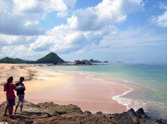 Kuta beach of Lombok offers white sand and fewer tourists.