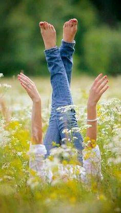 Love lying amongst the grass in a meadow!