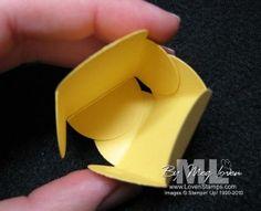 petal card punch candy idea wedding favor tutorial idea