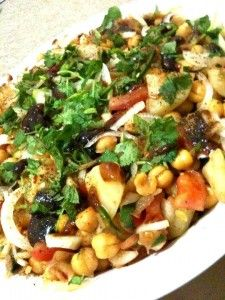 Aloo Chaat Recipe - This aloo chaat recipe is one of a famous street food in Pakistani and Indian cuisine. It is also one of the main serving item for ramadan iftar food. Here in this recipe it is prepared with two flavors of potatoes boiled and crispy fried and gives awesome taste when served as mentioned below. It can also be served over fried potato bed with chopped green chilies instead of spreading it on top .
