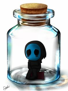Why is this so cute? For the Gods' sake, he eats kidneys, he is not supposed to be this cute.>> every Creepypasta is cute in their own way. Eyeless Jack, Jeff The Killer, Chibi, Scary Creepypasta, Creepypasta Proxy, Creepy Pasta Family, Laughing Jack, Scary Stories, Deviantart